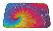 Gear New Tie Dye Bath Mat, Microfiber, Foam With Non Skid Backing, 60cm x 43cm , GN821525