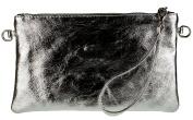 Girly HandBags Genuine Italian Metallic Leather Clutch Bag