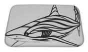 Gear New Bath Rug Mat No Slip Microfiber Memory Foam, Shark Tattoo, 24x17