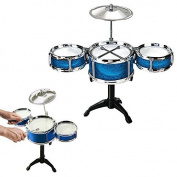 Toy Cubby Rock, Jazz and Country Band Desktop Drum Set - (BLUE) by Toy Cubby