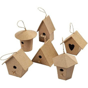 Papier Mache Mini Craft Bird Houses for Kids and Adult Crafts to Decorate and Embellish by Creativ