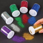 Baker Ross Glitter Shaker Tubes for Crafting, Scrapbooking, Card and Decoration Making - Arts & Crafts Supplies (Set of 6 Assorted Colours) by Baker Ross