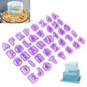 OUNONA 40Pcs Alphabet Cutters Letter Cutters Number Cookie Cutter Set DIY Tools
