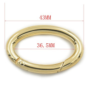 5 pcs 36mm Open Ring Oval Ring Snap Clip Trigger Spring Gate Buckle