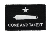 Gonzales Flag Come and Take It Tactical Hook and loop Fully Embroidered Morale Tags Patch