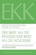 Der Brief an Die Epheser / Der Brief an Die Kolosser  [GER]