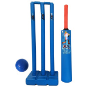 Beach Plastic Cricket Gift Set For Kids Plastic Water Proof - Contents Bat, Ball, Stumps, Bail & Carrying Bag