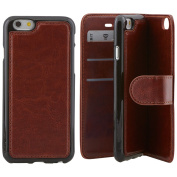 Best Quality Apple iphone SE Case cover, Apple iPhone SE Brown Designer 2-1 Multi-function Detachable Magnetic 3 Card Slots Wallet Style Wallet Case Cover