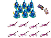 Disney Finding Dory Party Favour Hats And Extra Colourful Assorted Blowouts For 8 Guests by Finding Dory