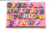 J*myi 26 capital letters of silicone fondant cake mould