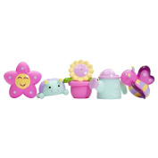 Elegant Baby Bath Time Fun Rubber Water Squirtie Toys In Vinyl Giftable Bag, Springtime