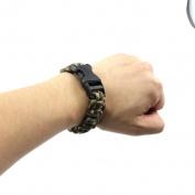 HuaYang Camouflage Green Umbrella Rope Bracelet Outdoor Survival Disaster Escape Tool