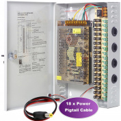 UHPPOTE 18CH Channel Power Supply Box PTC Fuse CCTV Camera Distribution DC12V 20A Output