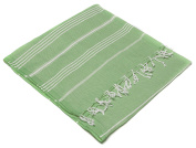 Turkish Emporium Striped 100% Cotton Hand Loomed Bath Towel Hammam Fouta Pestemal Peshtemal