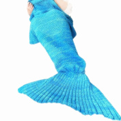 Mermaid Tail Blanket for Kids and Adult,Crochet Snuggle Mermaid,All Seasons Mermaid Sleeping Bag Blanket