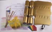 "10 X Make your own Large (14"" / 35cm) cracker kit - Gold"