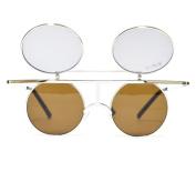 GloFX Flip Diffraction Glasses - Vintage Round Prism Kaleidoscope Rave Effect