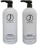 J Beverly Hills Masque Conditioner, 950ml + Fragile Colour Safe Shampoo 950ml