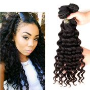 Uneed Hair Grade 7a Brazilian Remy Hair Loose Deep Wave Hair Extensions for Full Head Mixed Length Unprocessed Human Hair Weave Natural Colour