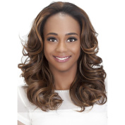 FHW-DAVINA (Vivica A. Fox) - Heat Resistant Fibre 3/4 Cap Wig in DARK BROWN