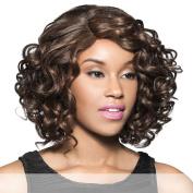 H/B WELSH (Foxy Lady) - Human Hair Blend Full Wig in DARKEST BROWN