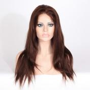 Wigsroyal Yaki 100% Remy Indian Human Hair Full Lace Wig Baby Hair 46cm 4/30# highlights Medium Cap Size