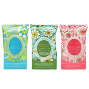 Pacifica Essential Makeup Removing, Purify Coconut Water Cleansing and Super Detox Purification Wipes, 30 ct. each