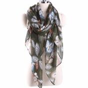 Sunfei Women Ladies Owl Print Pattern Long Scarf Warm Wrap Shawl