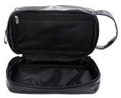 WODISON Vintage PU Leather Mens Travel Toiletry Bag Shaving Dopp Kits Organiser with Gift Box