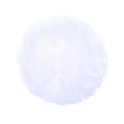 Anleolife 5Pcs White Large Fluffy Puffs For Body Powder Washable Face Powder 7.6cm Blending Sponge Puff Round For Foundation Makeup Velour Puffs Beauty Blenders 5pcs/package