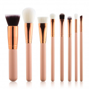Summifit 8 Pcs Professional Makeup Brushes Set Powder Foundation Contour Blending Eyeshadow Blush Brush Kit