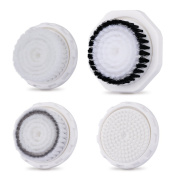 Professional Replacement Facial Cleansing Brush Heads for TEC.BEAN, MiroPure Sonic Vibration Facial and Body Cleansing Brush 4 PCs