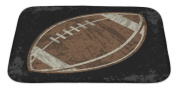 Gear New Bath Rug Mat No Slip Microfiber Memory Foam, Green Football, 34x21