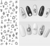Nail Art Water Transfer Stickers Christmas - DS266 Nail Sticker Tattoo - FashionDancing