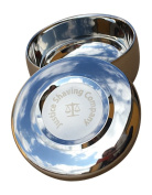 Justice Shaving Company Small Stainless Shave Bowl with Lid - A Classic Dual Layer Wet Shaving Bowl