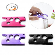 MLMSY 3 Piece Metal Essential Oils Opener Essential Oil Key Tool For Easily Remove Roller Balls and Caps for Most Bottles Random Colour