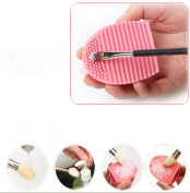 Fullkang 1PC Cleaning Glove Cosmetic Clean Brush Washing Scrubber Board