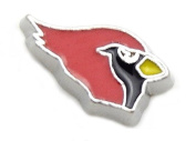 Cherityne Red Cardinal Bird Floating Charm for Locket Pendants