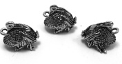 Set of Three (3) Silver Tone Pewter Turkey Charms