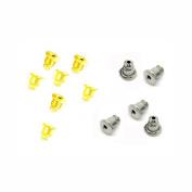 Honbay Bullet Clutch Earring Backs, 200pcs Earrings Findings Earring Safety Backs, Hypo Allergenic