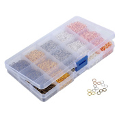 HooAMI 1 Box 5 Colours 5000pcs Open Jump Rings 6mm Diameter Jewellery Making Findings