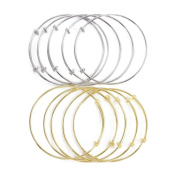 2 Pc Adjustable Wire Bangles for DIY Jewellery Making, Pack of 2