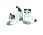 Cat Family Miniature Figurines Ceramic inspired by nature Animals