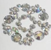 CraftbuddyUS CB032- AB Clear Flower Stick on Self Adhesive Diamante Crystal Rhinestone Gems