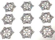 CraftbuddyUS CB056 -9 Ornate Diamante Self Adhesive Stick on Flower Gems Wedding CRAFT