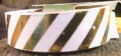 Gold Diagonal Foil Stripe Washi Tape - 10 Yards