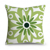 FabricMCC Sunflower on Green Square Accent Decorative Throw Pillow Case Cushion Cover 18x18