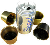 JWL (4) Solid Brass Water Holding Flower Arranger Pin Frogs 6cm Tapered Cups Fits 6cm Hole All Four Colours