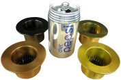 JWL (4) Solid Brass Water Holding Flower Arranger Pin Frogs 8.9cm Lip Cup Fits 6cm Hole All Four Colours