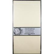 Fundamentals Cardmaking Unscored Cardstock 14cm x 28cm 20/Pkg-Cream